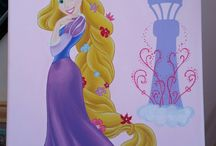 disney characters on canvas