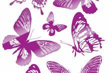 Наклейки: бабочки