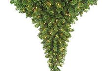 Upside Down Christmas Tree / These upside down artificial #Christmas trees are great for the home or business!  See our entire line here: http://www.1000bulbs.com/category/upside-down-artificial-christmas-trees/