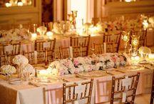 wedding table settings long