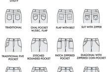 Bolsillos / Tipos de bolsillos, ocultos, costuras de estos, detalles, en prendas