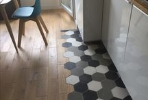 Combo carreaux de ciment / parquet