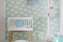 Clouds and drops in kids' room