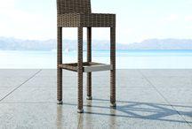 Barová zahradní židle z umělého ratanu Sondrio / Židle SONDRIO z oblého umělého ratanu s výší sedu 82cm je ideální k barovým pultům vaši kavárny a restauraci.  Vhodně se doplňuje s barovým stolem QUADRO 110 cm z oblého umělého ratanu.  Konstrukce je ze svařovaného hliníku, výplet z kvalitního oblého polyuretanu.