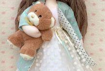 handmade fabric dolls / Handmade