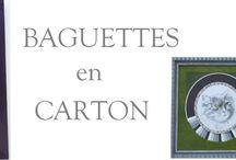 BAGUETTES en CARTON / Formation encadrement - cartonnage - baguette en carton -  Vente de fiches techniques : www.cadreetdeco.fr