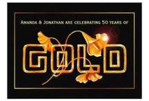 50th Golden Wedding Anniversary Calla Lily Suite / 50 Years of Marriage Anniversary Celebration Set ready to be customised to your specifics.