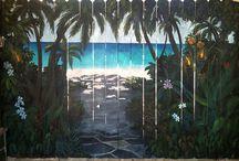 fence murals