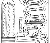 Coloring Pages - School / by Doodle Art Alley