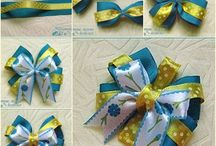 diy ribbon bowa