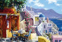 Greek island paintings