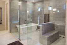 Wet Room / Wet Room with Frameless Shower and Tub