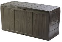 Plastic Storage Box Lidded Heavy Duty Patio Garden Weather Resistant Lockable