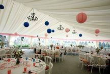 Weddings - marquee decoration ideas / Examples of how the marquee has been decorated for previous weddings.