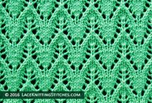 knitted lace stitches