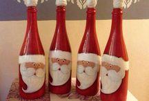 Butelki- mikołaje