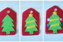 Etiqueta de Fieltro Árbol de Navidad