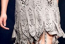 Trends December 2014 / Black, white and metallics. Heavy embroidery.