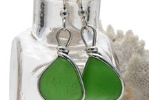 Green Sea Glass Jewelry For Sale
