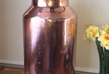 Vase din cupru si altele - Copper pots and others