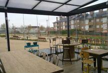 Madrid: Veranda de Aluminio / https://www.cerramientosabatibles.com/galeria/veranda-madrid-cortina-cristal-techo-movil
