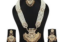 Kundan Wedding Jewelry Necklace Women Set
