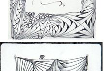 Zentangle/Doodles / Inspirováno zentangle