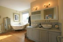 Beautiful bathrooms / Roll top baths, sumptuous spaces, tantalising tiles. Beautiful bathrooms that feature in our fabulous holiday cottages #travel #holiday #UK