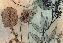 Botanical etchings