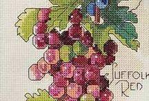 owoce, jarzyny, warzywa-cross stich