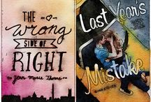 Watercolor covers of books! / Watercolor renditions of books!