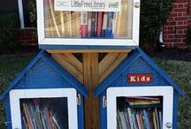 Mini Libraries / These Mini Libraries - resembling little houses on a post - sprout up everywhere: People are donating books for others to read, and also borrow titles.  It's a lovely neighbourhood thing