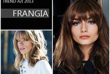 TREND'S HAIR  WOMEN - FRANGIA / La frangia è uno dei trend per la nuova stagione A/I 2013! Può essere rotonda che incornicia il viso rendendo lo sguardo più intenso e intrigante. . . Lunga e piena, Corta e da una parte, Lunghissima e da un lato!