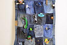 Sewing - repurposing old jeans