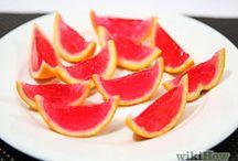 Orange slice jello shots