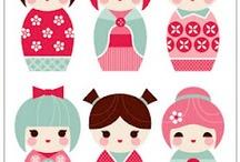 Kokeshi Dolls japan