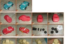 Cars cake toppers and cakes