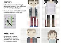 Embroidery - Cross stitch people