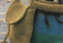 Knitted and felted bags