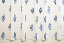 Blue and White Shower Curtain / French Country Curtains - Blue and White Shower Curtain