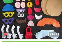Kids: Felt & Flannel Play Items / Felt toys, food, etc. and Flannel boards, stories, songs, etc.