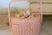 Baskets, wicker and cane