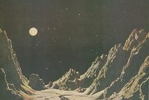 sci fi ⋄ pulp art ⋄ retro / Retro sci-fi art, pulp art, kitschy stuff