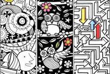 creatief / aanwijskaart/boekenlegger maken