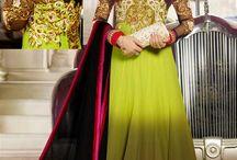 Celina Jaitley Anarkali Suits / Beautiful Bollywood Floorlength Anarkali Suits