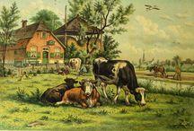 Herenboerderijen Groningen/ Farms Groningen / Nostalgie- nederlands boerenleven