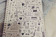 Drawing ~ doodles / Everything from journaling to small doodles. Emojis too.