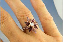 Beads rings - anelli di perline