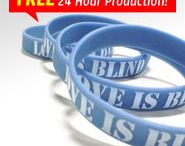 Customized Wristbands / Brand yourself with our fully customized Silicone Wristbands! We have many different styles for every event: debossed, embossed, ink injected, printed, and colorcoat! If you want to stand out, we also have 1 inch wristbands! Come brand yourself at www.Imprint.com