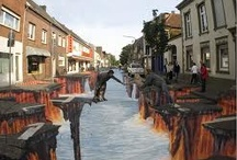 Awesome side walk artwork